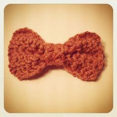 Crochet Bow (Rose) |