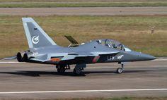 "Chinese Hongdu L-15 ""Falcon"" advanced jet trainer."