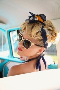 Street Style | Lookbook | Fashion News | 15 Chic ways to style your hair with scarves | http://getstyled.net