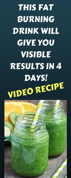 THIS FAT BURNING DRINK WILL GIVE YOU VISIBLE RESULTS IN 4 DAYS! (Video Recipe)