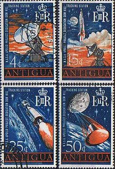 Postage Stamps Antigua 1968 Apollo Project Set Fine Used SG 212 5 Scott 199 202 Other West Indies and British Commonwealth Stamps HERE!