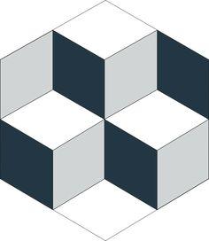 H20M020  format 20 cm #Carreauxciment #Carrelage #3D