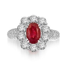 Amist Ruby Cocktail Ring
