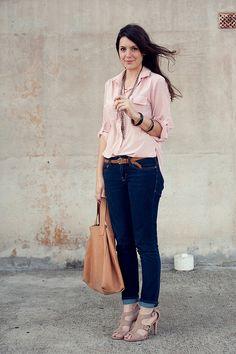 love that pink shirt.