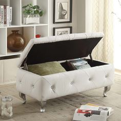 Leather Upholstered Tufted Storage Bench | Overstock.com Shopping - The Best Deals on Benches