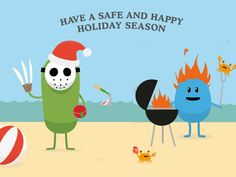 """Have a safe and happy holliday season"" - Dumb ways to die volta para o Natal. #storytelling"