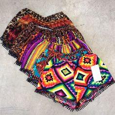 Boho beach shorts  #boho  #beach - ☮k☮