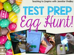 Test Prep Egg Hunt! Test prep doesn't have to be boring and stressful! Read about this fun test prep activity.
