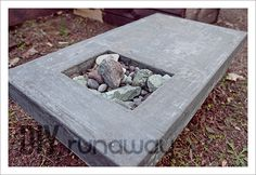 DIY concrete table top, step by step photos.