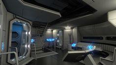 Fi Sci Spaceship Interior   Dan Brown CGI   Sci-fi Art: October 2011