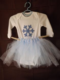 Baby's first Winter tutu outfit size 36 by AlishaCreativeDesign, $25.00