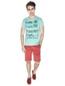 MedaIgual camiseta manga corta color verde