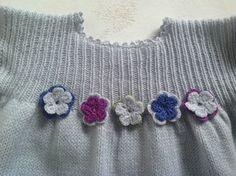 Handknitted baby dress/ baby merino dress / baby by DaLuforkids