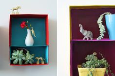 3 Clever Ways to Turn Shoeboxes into Wall Art via Brit + Co.