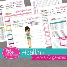 Health. More Organized.  Weight Loss Tracker door lifemoreorganized