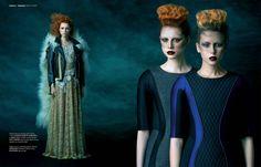 Storybook magazine Simona Antonovic make-up / bold strong eyeliner gothic dark lips