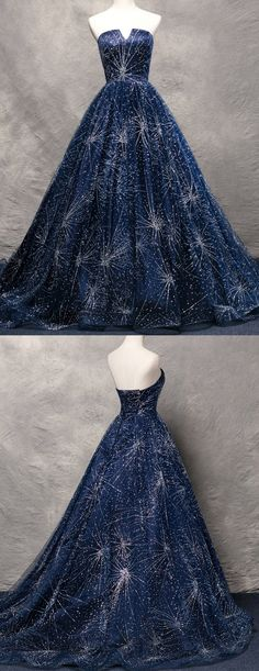 Navy Blue Prom Dresses,Strapless Prom Dresses,Beaded Prom Dresses,Luxury Prom Gowns, Off The Shoulder Prom Dresses,Design Prom Dresses,A-Line Prom Dresses, Princess Prom Dresses,2017 Prom Dresses,Fashion Prom Dresses