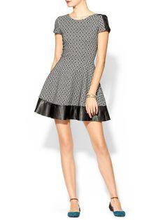 "Parker | ""Nolan"" leather trim dress | Piperlime $396"