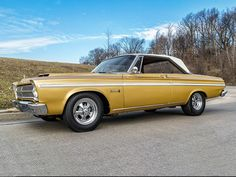At Vicari's Upcoming Biloxi, 2016 Auction, is Lot:F378 – a 1965 PLYMOUTH BELVEDERE – Body:2D HARDTOP Exterior:GOLD Interior:2 TONE Transmission:AUTOMATIC Engine:446CI; V8 All Cars, Used Cars, Plymouth Cars, Plymouth Belvedere, Gold Interior, Mopar, Muscle Cars, Antique Cars, Classic Cars