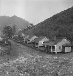 Boarded up town Boarded up homes abandoned mining town Twin Branch West Virginia owned and closed by Ford after unioniztion attempt Marion Post Wolcott 1938