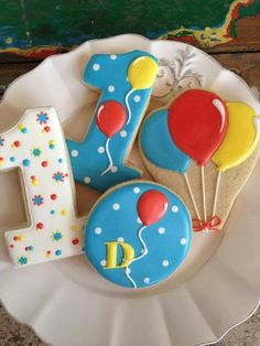 1st Birthday Cookies (Bambella Cookies)