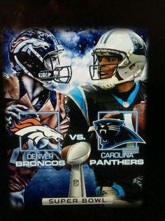 Super Bowl 50 T-shirt Carolina Panthers Vs Denver #Broncos Size Small from $20.0