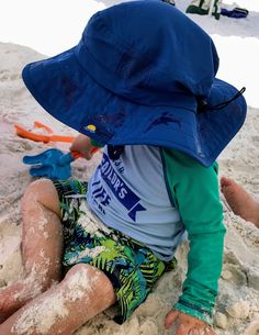 b61267158ca Hats with sun protection are an added strategy to protect toddlers  sensitive skin from the sun.