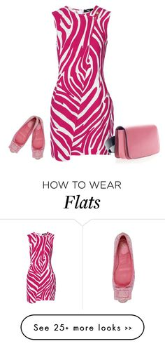 """""""Versus Zebra-print stretch-jersey dress"""" by lawoffice on Polyvore featuring Roger Vivier, Versus and Marni"""