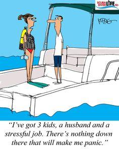 Scuba Cartoon: Not Going to Panic