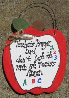 Teacher Gifts 691 Teacher Prayer Apple by NannieandBCrafts on Etsy, $2.50