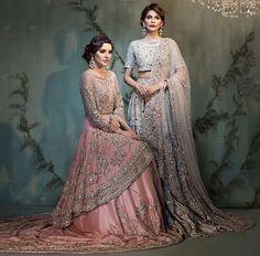 The blue one Pakistani Couture, Pakistani Bridal Dresses, Pakistani Outfits, Indian Dresses, Indian Outfits, Bridal Dress Design, Pakistan Fashion, Indian Designer Wear, Couture Dresses