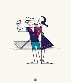 Ale Giorgini's Illustrations of Pop Culture Icon Couples - Tackk