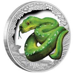 Australia 2011 Christmas Tree $1 One Dollar Coloured UNC Coin Perth Mint