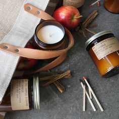 Candle Co Apple Picking candle is a soy wax candle with a 40 hour burn time and a warm, crispy scent with a hint of spice. Soy Wax Candles, Scented Candles, Candle Jars, Cinnamon Spice, Fall Scents, Fragrance Oil, Autumn Leaves, Apples, Spicy