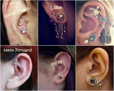 A orelha  é um dos lugares mais populares do universo dos piercings , quem olha uma orelha assim... Sem compromisso, não imagina quanto...