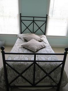 gMetal Headboard and Footboard for Twin Bed  - $80