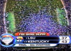 kentucky-lsu. great, great day! What a game this was!! Can't describe the atmosphere at Commonwealth Stadium on this night!!