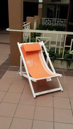 Orange Praia Beach Chair Set of 2