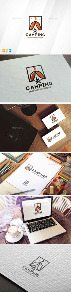 Camping Logo Design Template Vector #logotype Download it here: http://graphicriver.net/item/camping/13721303?s_rank=366?ref=nesto
