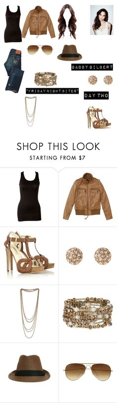 """Gabby Gilbert Worlds Colliding (The Vampire Diaries) 1.03 ""Friday Night Bites"""" by heartofice97 on Polyvore featuring Wet Seal, Rupert Sanderson, Stella & Dot, Miss Selfridge and Ray-Ban"
