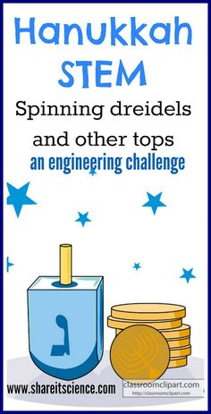 Share it! Science News : Saturday Science Experiment: Spinning Dreidels and othe. Share it! Science News : Saturday Science Experiment: Spinning Dreidels and other spinning tops! Stem Science, Preschool Science, Science News, Science Experiments, Summer Science, Kid Science, Science Education, Space Activities For Kids, Fun Winter Activities