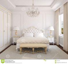 молдинг в спальне