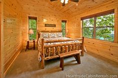 Majestic View Lodge • This 13 bedroom luxury cabin has it all! Everything you could want, beautiful decor, large amount of space, mountain views, plenty of paved parking space! #cabin #huge #luxury