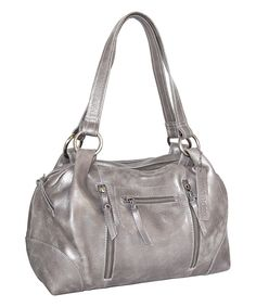 64f7cbd2537532 Take a look at this Pewter Nikki Leather Satchel today! Leather Satchel,  Rebecca Minkoff