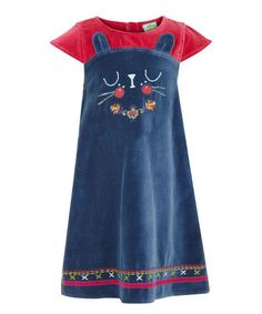 Look what I found on #zulily! Blue Cat Tunic - Toddler & Girls by Yumi Girls #zulilyfinds