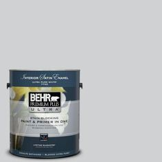 BEHR Premium Plus Ultra 1-gal. #N530-2 Double Click Satin Enamel Interior Paint-775001 - The Home Depot