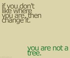 I have to remind myself at times, that stagnation in life is a choice.
