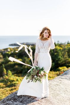Styled Shoot featuring Katrina Tuttle Bridal in Polly's Cove, NS via Styled In Lace Nova Scotia, Bride Groom, Photo Shoot, Custom Design, Wedding Photography, Weddings, Bridal, Wedding Dresses, Lace