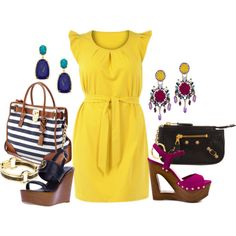 """Yellow Dress - Plus Size"" by alexawebb on Polyvore"