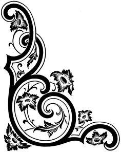 Metal Embossing, Mandala Tattoo Design, Photo Corners, Retail Store Design, Border Pattern, Scroll Design, Illuminated Letters, Corner Designs, Coreldraw